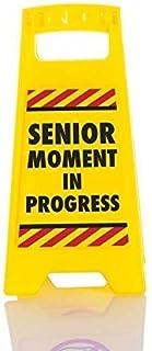 Boxer Senior Moment-Desk 警告标牌,黄色,25x11.8x11.5 厘米