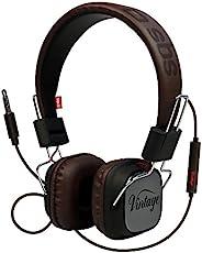 SBS S.p.a. 覆盖 多种颜色 TEHEADPHONEDJHQK 耳机 DJ 复古立体声电缆 接听 / 结束按钮和麦克风 频率 18HZ 24KHZ 黑色
