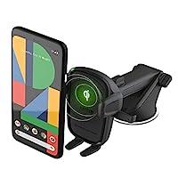 iOttie 无线车载充电器 Easy One Touch 无线 2 Qi 充电仪表板手机支架适用于 iPhone、Samsung Galaxy、华为、LG、智能手机