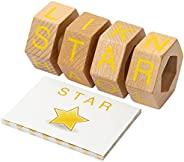 Spinning Speller - 扩展包 - 木制拼写游戏 - 蒙特梭利儿童学习字母教育游戏 - 将 ABC 块拼图和抽认卡结合为一体