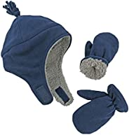 N'Ice Caps 男童和婴儿夏尔巴内衬微羊毛飞行员帽子