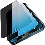 [4 件裝] Tamoria 隱私屏幕保護膜兼容 iPhone 12 Pro Max 帶安裝工具 + 鋼化玻璃相機鏡頭保護套 [防刮] 絲屏防間諜全覆蓋膜專為 iPhone 12 Pro Max 6.7 英寸