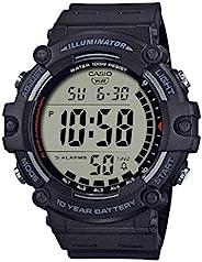 Casio 卡西欧 男式石英树脂表带,黑色,27.63 休闲手表(型号:AE-1500WH-1AVCF)