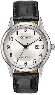 Citizen 西铁城 男士模拟太阳能手表带皮革表带AW1231-07A