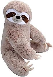 Wild Republic Ecokins 大号树懒,填充动物,30 英寸(约 76.2 厘米),儿童礼品,毛绒玩具,由再生纺水瓶制成,环保,儿童房装饰