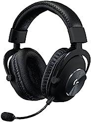 罗技 G PRO X 无线 Lightspeed PC 兼容游戏耳机与蓝色语音麦克风技术 50mm PRO-G 扬声器 DTS 耳机:x 2.0 环绕声,记忆海绵填充