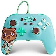 PowerA 增强型有线控制器,适用于Nintendo Switch-动物穿越:Tom Nook,Nintendo Switch Lite,游戏手柄,游戏控制器,有线控制器,已获得官方许可-Nintendo Switch