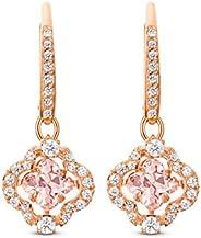 SWAROVSKI 女士闪亮舞蹈四叶草珠宝系列,玫瑰金饰面,粉色水晶,透明水晶