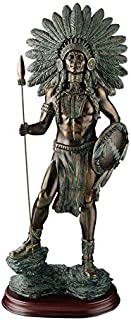 Design Toscano Proud Chieftain Warrior 雕塑