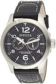 Invicta 0764 I-Force 男式腕表不锈钢石英黑色表盘