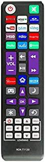 新款通用遥控器,适合所有Roku TV(JVC/RCA/Philips/Element/LG/TCL),Bose Wave I/II/III/IV 和 Apple 1/2/3 Generations (不适用于 Roku Stick]