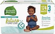Seventh Generation *七世代 婴儿纸尿裤,3 号,174 片,每个月用量,适用于敏感肌肤