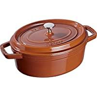 Staub 琺寶 橢圓鑄鐵燉鍋,適用于電磁爐,29cm,1件裝,肉桂色