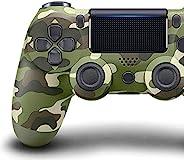 游戏控制器 - 无线游戏手柄 适用于 PS4/PS4 Pro/PC 和笔记本电脑,带振动和音频功能,迷你 LED 指示灯,高灵敏控制器带防滑(迷彩绿)