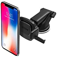 iOttie Easy One Touch 迷你挡风玻璃和仪表板车载支架适用于 iPhone X 8 Plus 7 Plus 6s Plus 6 SE Samsung Galaxy S9 S9 Plus S8 Plus S8 Edge S7 S6 Note 9
