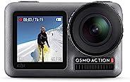 DJI Osmo Action Cam 数码动作相机 带 2 个屏幕 11 米 防水 4K HDR - 视频 12MP 145° 广角镜头相机 黑色