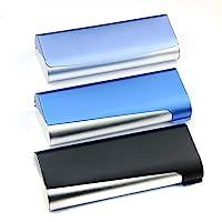 Cadtealir 硬壳铝灯近视眼镜盒盒双色铝眼镜盒(银色和蓝色)