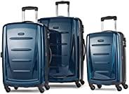 """Samsonite 新秀丽 Winfield 可扩展行李箱,24 \""""(约0.61米),深蓝色,3-pc Set (20/24/28)"""