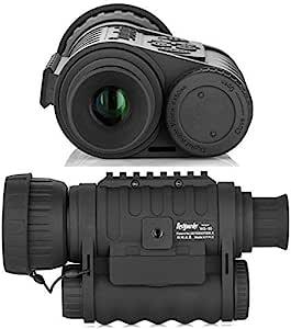 夜视单筒望远镜,高清数码红外摄像机范围 6x50 毫米,1.5 英寸TFT LCD 大功率狩猎装备,可拍摄 5 万像素照片 720 视频,高达 350 米/1150 英尺检测距离