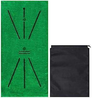 MAANNE 高尔夫练习垫便携式高尔夫击球垫室内和室外高尔夫训练辅助器用于挥杆测试家庭办公室户外使用理想礼物