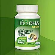 Life's DHA 全素食DHA膳食补充剂 来自天然植物来源 200毫克DHA Omega-3 | 60粒软胶囊 新老包装