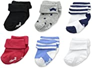 Little Me Baby-Boys 6 Pack Socks with Turn Cuff