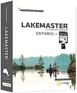 Humminbird LakeMaster 安大略版数字 GPS 湖地图,Micro SD 卡,版本 1