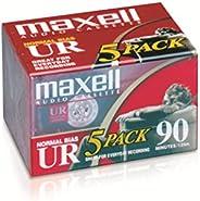 Maxell 108562 Brick PacksMaxell 108562 低噪音表面 90 分钟录音时间音频卡带,非常适合日常录音(5 件装)