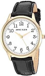 Anne Klein Women's Easy to Read Leather Strap Watch, AK/