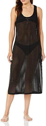 Calvin Klein Maxi 女士纯色罩衫,钩针编织赛车手背心裙