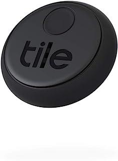 Tile 粘贴(2020),蓝牙物品查找器 搜寻范围为45m,续航时间为3年,可与Alexa和Google Home配合使用。 兼容iOS和Android。 查找钥匙,遥控器等,2件装,黑色