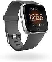 Fitbit Versa * & 健身智能手表带心率测量,4 + 天电池使用时间和防水深度达 50 米深 Silver/Grey Einheitsg