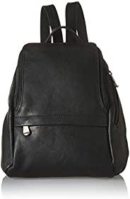Royce 皮革 10 英寸平板电脑背包哥伦比亚真皮笔记本电脑背包 黑色 均码