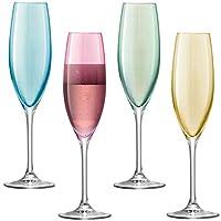 LSA International 波尔卡酒杯套装 225 ml,4件装,异色