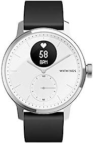 Withings ScanWatch 誕生于法國的智能手表 42毫米款 白色 *長可持續30天 檢測心率急劇變化&*中的*亂 HWA09-MODEL 3-AL