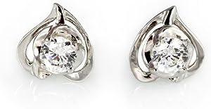 王廷珠宝 925银 爱你在心口耳钉 送925银耳托