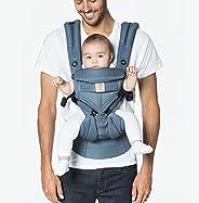 Ergobaby Omni 360 全位置婴儿背带,带腰部支撑,凉爽透气网,适合7-45磅(约3.18-20.41千克)的新生婴儿,牛津蓝