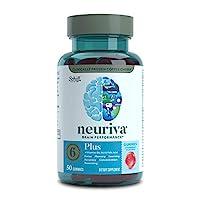 NEURIVA Plus 草莓软糖(一瓶50粒),有益于大脑,含有磷脂酰丝氨酸,维生素B6,维生素B12-支持发展专注力,熟记能力,学习能力,准确性,专心和推理能力