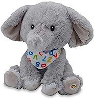 Cuddle Barn - 字母 Elroy | 动画唱歌大象填充动物毛绒玩具,耳鸣到 ABC 歌曲和 10 个小象,12 英寸(约 30.4 厘米)