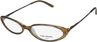 Vera Wang Curve 女士/女士猫眼全框柔性铰链臀部和别致罕见日本制造眼镜/眼镜框架