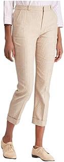 LAUREN RALPH LAUREN 娇小亚麻混纺格伦格子紧身长裤-8 棕褐色