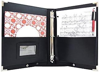 MSP PU 皮套乐谱夹   9.5 英寸 x 12 英寸 - 3 RINGS 合唱文件夹带手带音乐家 - 中号(MSP-210)4336350088  中