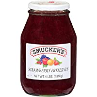 Smucker's Strawberry Preserves, 4 lbs (Pack of 6)