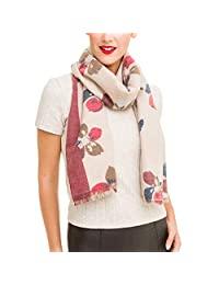 女士围巾图案设计优雅羊绒长披肩厚实披肩