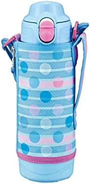 TIGER 虎牌 水杯 500ml SAHARA系列 不锈钢运动保温杯 直饮 带杯子 两用式 蓝点 MBO-H050AT