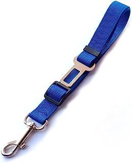 狗*带,1 件宠物狗*带,可调节狗猫*牵引绳,车辆汽车*带,宠物*带,弹性尼龙弹力缓冲器,用于减震(蓝色)