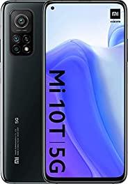 小米 Mi 10T 128GB,6.7 英寸点显示屏,6400 万像素三重后置摄像头,8K 视频,5000 毫安电池 LTE 5G 工厂解锁智能手机 - 国际版(迷魅黑色,6GB RAM)