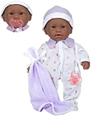 JC Toys, La Baby 11-inch African American Washable Soft Body Play Doll For Children 18 months or Older, Design