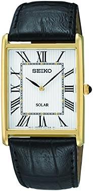 Seiko SUP880 男士日本石英表盘手表,白色