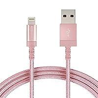 AmazonBasics 亞馬遜倍思 VA口USB快充數據線 編織尼龍,1.8米,Apple認證,紅金色